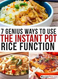 Instant Pot Recipes | My 7 favourite ways to use the Instant Pot rice function that I just can't stop cooking from RecipeThis.com