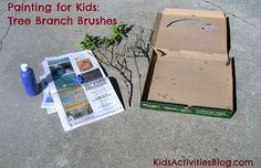 Painting for Kids: Tree Branch Brushes