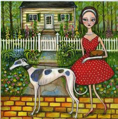 The Yellow Brick Road  ORIGINAL Oil Painting by AlmostAnAngel66, £400.00 Greyhound Art, Italian Greyhound, Skinny Dog, Yellow Brick Road, Sign Printing, Dog Art, Beautiful Dogs, Oil On Canvas, Illustration Art