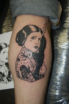 Tattooed Leia Tattoo by yayzus.deviantart.com