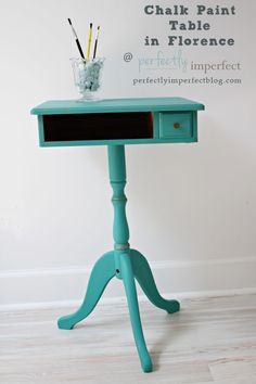 See the new Annie Sloan Chalk Paint color Florence at Perfectly Imperfect.  Learn how simple it is to paint furniture with Chalk Paint at perfectly imperfect.