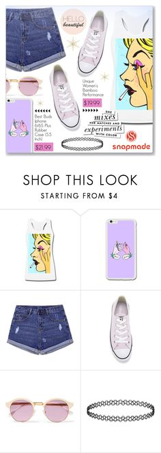 """""""Snapmade.com"""" by dressedbyrose ❤ liked on Polyvore featuring Converse, Sheriff&Cherry and Kate Spade"""