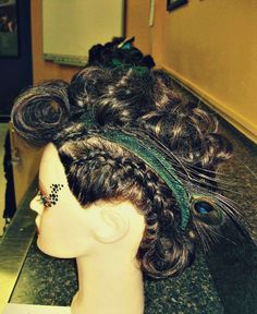 cosmetology school first updo competition marcel