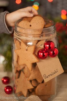 Candle Jars, Candles, Biscotti, Gingerbread Cookies, Food And Drink, Healthy Recipes, Cooking, Sweet, Party