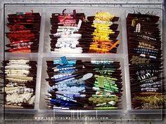 by Saphira Bänder Aufbewahrung I ribbon storage I