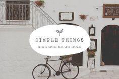 Simple Things - cute little font by Ian Barnard on @creativemarket