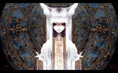 creepy text long hair open shirt red eyes kitsune kanji white hair fox girl anime girls 1920x1200_wallpaperswa.com_95.jpg (600×375)