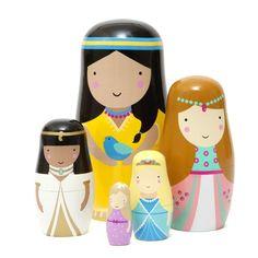 Sketch Inc nesting dolls -babushka's- matroeska's prinsessen Petit Monkey Design Shop, Jewelry Making Kits, Cool Gifts For Kids, Fun Gifts, Cute Princess, Little Girl Gifts, Kids On The Block, Gifted Kids, Kids Writing