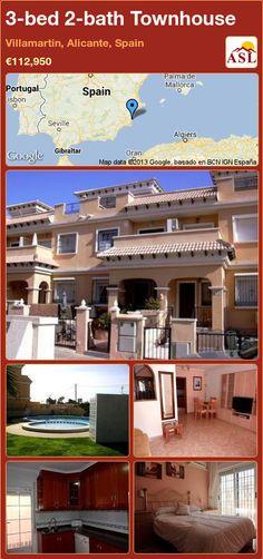 3-bed 2-bath Townhouse in Villamartin, Alicante, Spain ►€112,950 #PropertyForSaleInSpain