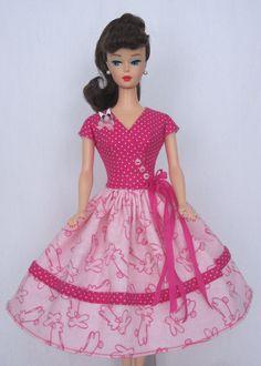 Bunny Hop- Vintage Barbie Doll Dress Reproduction Barbie Clothes on eBay http://www.ebay.com/usr/fanfare1901?_trksid=p2047675.l2559