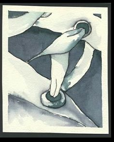 *High Tops 3- Watercolor, Pen