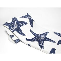 Luxury Starfish Throws in Slate Blue and White.