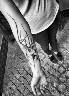 Beautifully Complex Black and White Sketch Tattoos by Inez Janiak | BlazePress