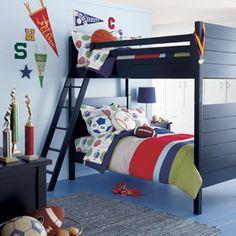 Wide Stripe Reversible Boys Bedding