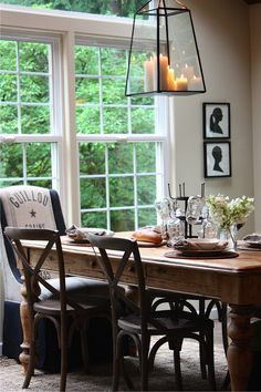 . ~a rustic table & a new lantern~