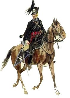 1812 The army of Brunswick-Hussain, a regiment of Hussars.