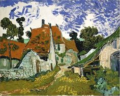 Friends of Vincent (@VanGoghADay) | Twitter  Village Street in Auvers Oil on canvas Auvers-sur-Oise: May, 1890 Helsinki: Ateneum Art Museum