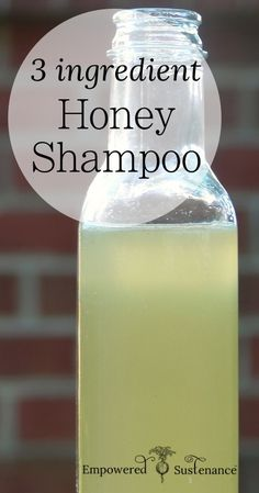 DIY Honey Shampoo for silky smooth hair, just 3 ingredients! #hair #DIY