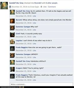 Lord of the Rings on Facebook - One does not simply walk into Mordor....right?