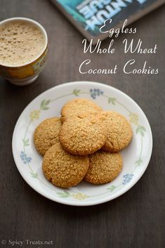 Whole Wheat Coconut Cookies is one such recipe, delicious and melt in mouth flavorful cookies using whole wheat flour without eggs and less sugar when compared to other cookies. I bookmarked this recipe from Hari Eggless Cookie Recipes, Easy Baking Recipes, Eggless Baking, Eggless Desserts, Healthy Baking, Bread Recipes, Cake Recipes, Vegan Recipes, Easy Snacks