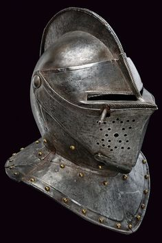 A composite closed helmet,    provenance:	 	France dating:	 	 late 16th Century .