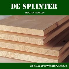 Mssief houten panelen van De Splinter BV  www.desplinter.nl & www.houtenpanelen.nl