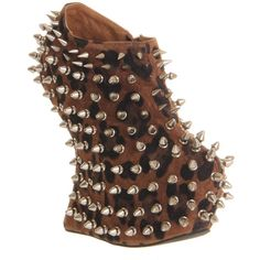 Jeffrey Campbell Shadow Platform Ankle Bt ($93) ❤ liked on Polyvore featuring shoes, heels, high heels, wedges, cheetah sde silver stud, sale, platform shoes, wedge heel shoes, leather platform shoes e high heel shoes