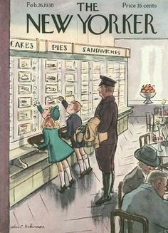The New Yorker Digital Edition : Feb 26, 1938 ~ automat restaurants in NYC were still in existence in the sixties (no, I didn't go with a chauffeur :)