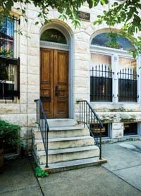 Gretrude Stein lived with brother Leo at 215 E. Biddle St in Baltimore while in medical school