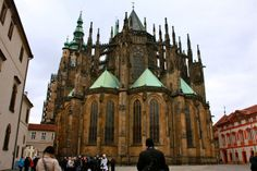 St Vitus Cathedral, look at those spires! Czech Republic, Prague, Barcelona Cathedral, Wander, Fairy Tales, Saints, Europe, City, Building