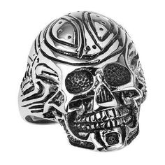 Stainless Steel Tribal Skull Ring Stainless Steel Tribal Skull Ring Nah… we don't mass produce our skull rings in some dimly lit factory with underpaid worke...