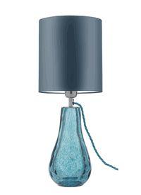 "Special Order Design: 20"" Tortoiseshell Art Glass Table Lamp * Blue * Click Image For Full Screen View"
