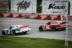 #FlashbackFriday #POTD216 Michael McDowell 2 | Justin Allgaier 16 | 2007.10.14 | Toledo Speedway