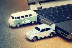Pendrives kombi e fusca VW.