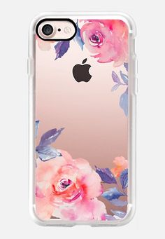 Cute Watercolor Flowers Purples + Blues iPhone 7 Case by Angie Makes | Casetify