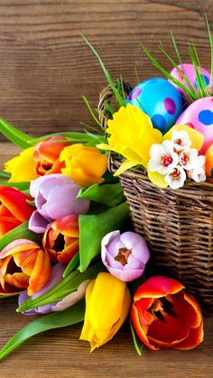 Happy Easter Basket Lumia Icon Wallpaper (1080x1920)