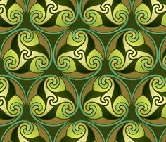earthly hues fabric by hannafate on Spoonflower - custom fabric for Irishroom guestbed