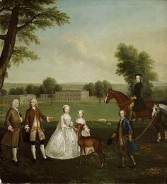 1740 Arthur Devis (Inglese artist, Thomas Lister and Family Park at Gisburne Wall Art Prints, Fine Art Prints, Canvas Prints, A4 Poster, Poster Prints, Chicago Museums, Park Art, European Paintings, Classic Image