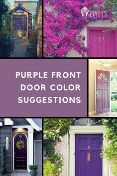 Here are some color suggestions to help select a purple front door color. There are many purples to choose from. Pick one to compliment your home's colors. Purple Front Doors, Best Front Doors, Front Door Paint Colors, Purple Door, Exterior Front Doors, Painted Front Doors, Front Door Design, Glass Front Door, Exterior Paint