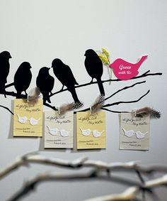 favor option for mals shower-- you can plant the birds! They are wildflower seeds!