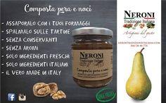 Composta pera e noci...  #neronitradizioneitaliana #madeinitaly #ciboitaliano #italia #composte #creme #sughipronti #noconservanti #patè