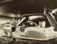 retro_futurism: Astra-Gnome: Time and Space Car Space Car, Space Time, Comics Illustration, Photos Originales, World Of Tomorrow, The Future Is Now, Atomic Age, Atomic Punk, Futuristic Cars