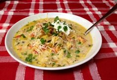 Copycat Cheesecake Factory Chicken Tortilla Soup (in Crockpot)
