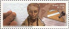 2009 Brazil Bicentenary of the Birth of Louis Braille 1809-1852