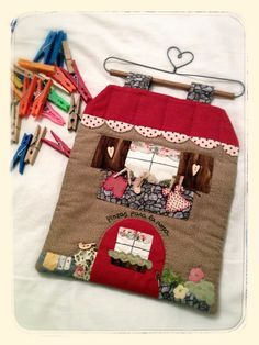Bolsa para las pinzas. Tweezers clothes bag.