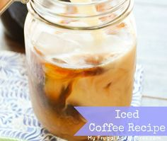 Iced Coffee Recipe- refreshing and a perfect afternoon pick me up!