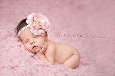 Large Pink Flower Headband  Baby Girl by Pinkpaisleybowtique