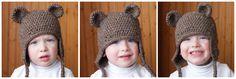 Free Crochet Bear Ear Hat Pattern : 1000+ images about Crochet - Bears ! on Pinterest ...