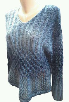 New unique handmade in Ukraine cotton linen kid mohair blouse sweater pulover  #Handmade #VNeck
