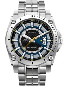 Bulova Champlain Precisionist - Carbon Fiber Dial with Blue and Yellow Accents